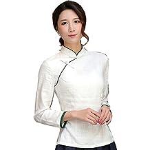 Shanghai Story Chinese Shirt Long Sleeve Tang Qipao Top Blouse