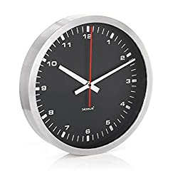 Era Stainless Steel & Black Wall Clock