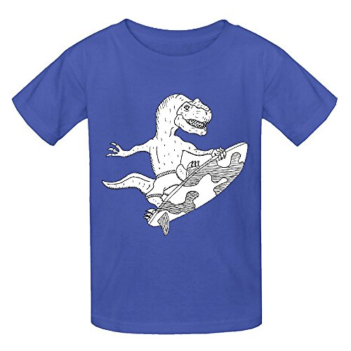 Happy New Year Horn (Snowl Surfing Velociraptor Boys' Crew Neck Graphic Tee)