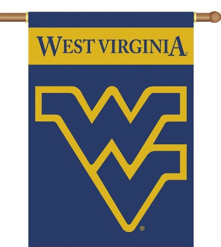 [NCAA West Virginia Mountaineers 2-Sided 28-by-40 inch House Banner with  Pole Sleeve] (Premium 2 Sided Banner Flag)