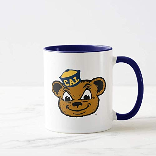 FiuFgyt Cal Bear Mascot Navy Blue Christmas Coffee Mug Funny 11oz Sarcasm Mug Cup Present for Girls Boys