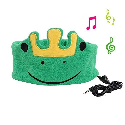 ABOGALE Children Headband Headphone Music Headband, Comfortable Volume-Limited Soft Fleece Headband - Perfect for Kids(Green Frog)