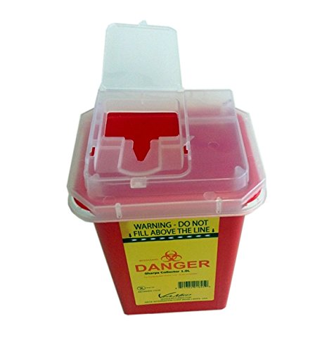 Sharps Container 5.0Litres, Red - Yellow Color. from VIAMED
