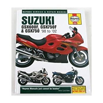 amazon com 98 02 suzuki gsx600f haynes repair manual misc rh amazon com suzuki gsx600f owners manual suzuki gsx600f owners manual