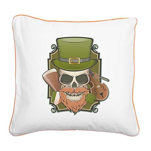 Square Canvas Throw Pillow Orange St Patricks Irish ()
