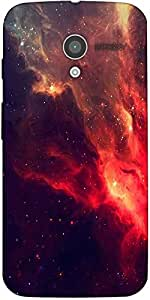 Snoogg Skyview Clouds Designer Protective Back Case Cover For Moto-X