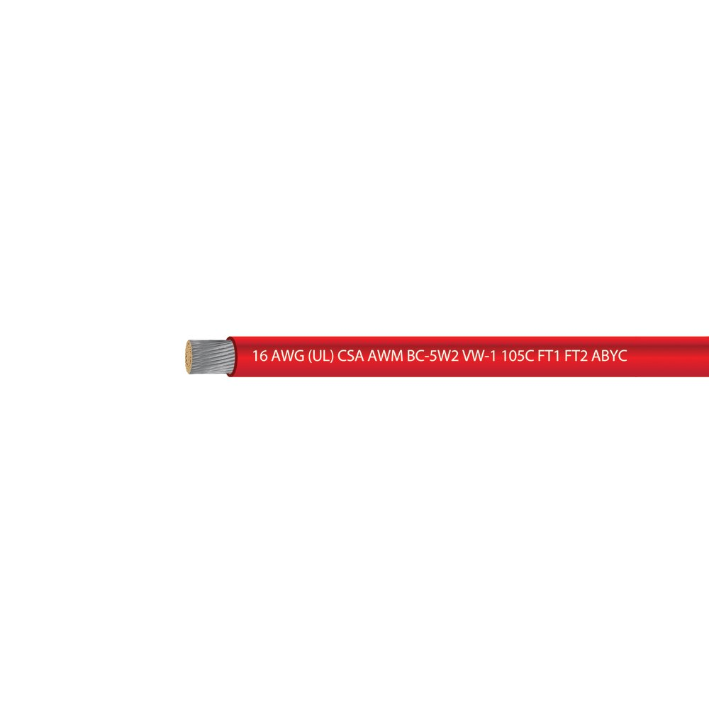EWCS 16 AWG (UL) Marine Grade Tinned Copper Boat Wire 600 Volts - Red - 100 Feet - Made in USA by EWCS