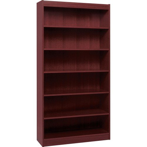 Lorell 6-Shelf 36 x 12 x 84-Inch Panel End Hardwood Veneer Bookcase, (Office Unfinished Armoire)