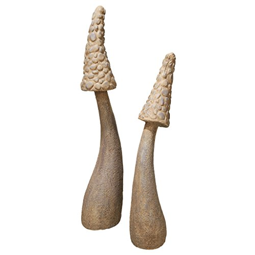 (Mushroom Garden Statue - Set of Two Massive Mystic Mushroom Statue - Garden Statue)
