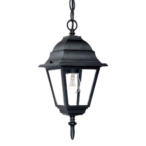 Acclaim 4006BK Builder's Choice Collection 1-Light Outdoor Hanging Lantern, Matte Black