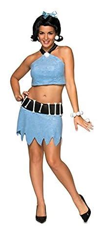 Rubies Womens Flintstone Cave Girl Betty Rubble Halloween Themed Fancy Costume, S (6-10) - Flintstone Mask