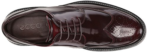 Ecco Mens Vinröd Slips Kenton Brogue Oxford