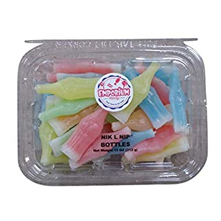 Nik L Nip Wax Bottles - 11 oz of Fresh Delicious Fruity Liquid Filled Fun Chewy Candy in Resealable Container