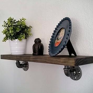 Eisen Art Wasser Rohr Display Rahmen maifeini Wasser Wandregal zum aufh/ängen Regal American Style Vintage Style Massivholz