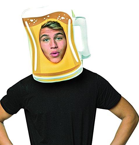 Rasta Imposta Men's Beer Mug Open Face Mask, Yellow, OS -