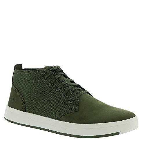 Green Nubuck (Timberland Mens Davis Square Chukka Dark Green Nubuck Boot - 12)