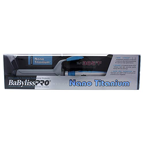 BaByliss Nano Titanium and Ceramic Curling Iron for Unisex Curling Iron, No. Bnt150sc Grey/blue, 1 1/2 Inch - 41 rczvDGpL - BaByliss Nano Titanium and Ceramic Curling Iron for Unisex Curling Iron, No. Bnt150sc Grey/blue, 1 1/2 Inch