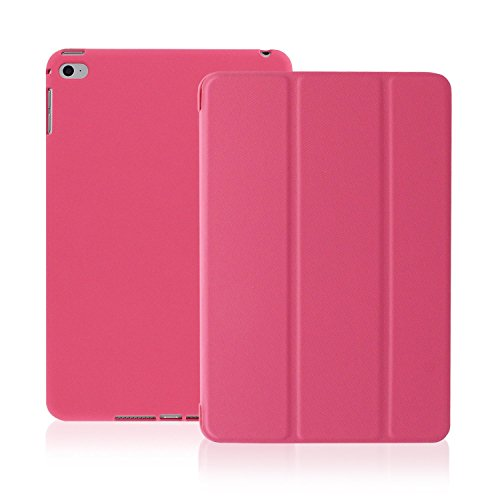 Pink Personal Electronic Cases (KHOMO iPad Mini 4 Case - DUAL Series - Ultra Slim Twill Pink Cover with Auto Sleep Wake Feature for Apple iPad Mini 4th Generation Tablet)