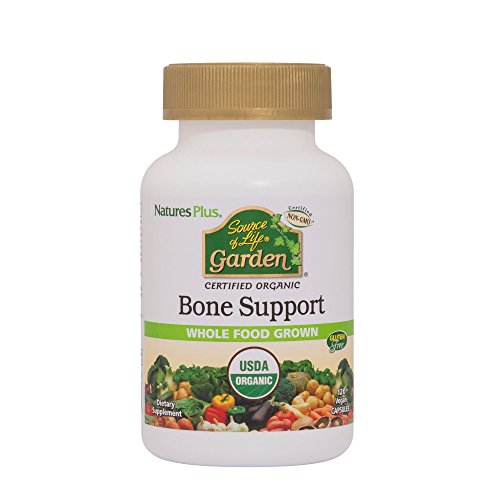 Natures Plus Source of Life Garden Bone Support – 1000 mg Algaecal, 120 Vegan Capsules – USDA Organic Whole Foods Supplement with Calcium, Magnesium – Vegetarian, Gluten Free – 30 Servings