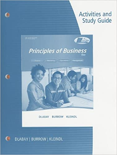 Activities and Study Guide for Dlabay/Burrow/Kleindl's Principles ...