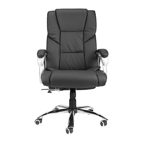 CO-Z Wide Seat 350lbs Load Capacity High Back PU Executive Home Reclining Swivel Office Chair by CO-Z