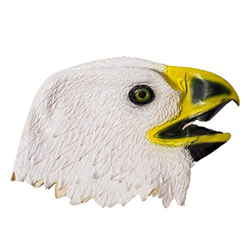 Culturemart Mask White Black Eagle Latex Animal Head