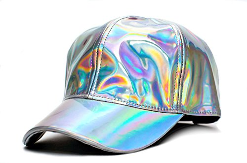 Marty McFly Hat Back To The Future Curved Bill Rainbow Cap Adult -