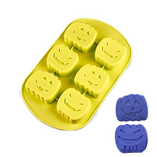 FantasyDay Halloween Pumpkin Chocolate Wafer Silicone Mold Cookie Mold Ice Cube Tray for Holiday Chocolate, Muffin Cups, Wafer, Cake Toppers, Bath Bombs, Soaps, Cookie and More #7 ()