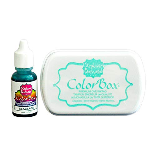 ColorBox Ink Pad Stamp Ink and Refill Combo Pack by The Stamps of Life - Seaglass Blue