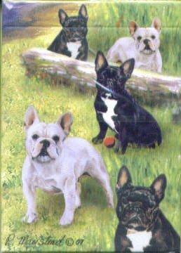French Bulldog Dog Playing Cards by Ruth Maystead