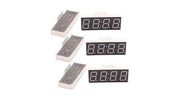 Amazon.com: eDealMax 6 piezas DE 4 bits Tubo ánodo común Digital LED Módulo de pantalla Con reloj: Electronics