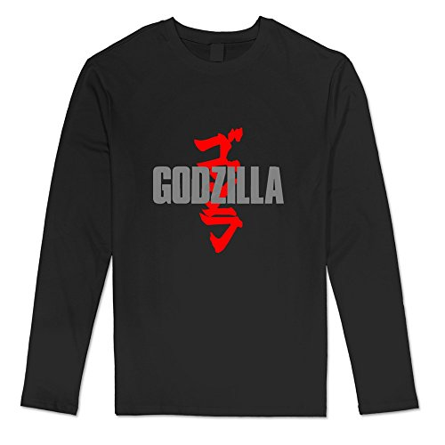 [AOPO Men's Long Sleeve Godzilla Tees Large Black] (Anguirus Costume)