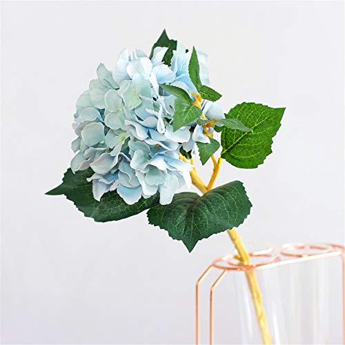 (ZJJZH Artificial Decorative Flowers Hydrangea Artificial Flower Living Room Decoration Upholstery Table Flower Decoration Coffee Table Flower Arrangement Artificial Flowers.)