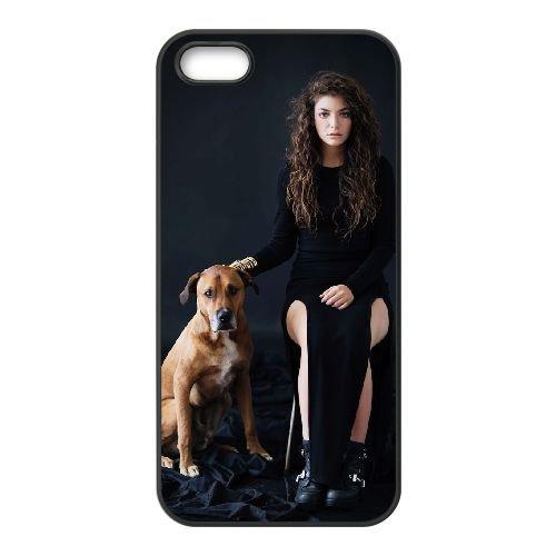 Lorde 001 coque iPhone 5 5S cellulaire cas coque de téléphone cas téléphone cellulaire noir couvercle EOKXLLNCD25629