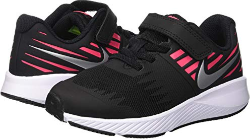 Nike Girl's Star Runner (PSV) Pre-School Shoe Black/Metallic Silver/Racer Pink/Volt Size 1 M US by Nike (Image #5)