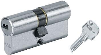 Abus D6PS - Cilindro de la puerta con llave, 30x70 mm, plateado