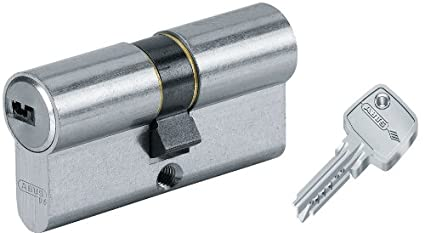 Abus 27071 - Cilindro de la puerta con llave, 35x35 mm, plateado: Amazon.es: Bricolaje y herramientas