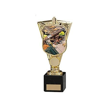 210 mm deportivos Titanes Clay Pigeon Shooting trofeo, grabado ...