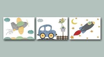 Kinderzimmer Poster Set Fahrzeuge Din A4 Matt Amazon De Auto
