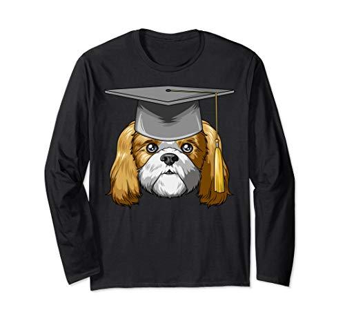 Shih Tzu Graduation Graduate Hat Shih Tzu Long Sleeve T-Shirt