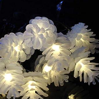 Cadena de luz solar de piña Navidad al aire libre Jardín Patio Decoración Cadenas de luz Luces de Navidad a prueba de agua 20LED A: Amazon.es: Iluminación