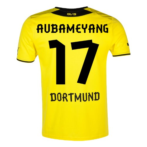 Puma AUBAMEYANG # 17 Borussia Dortmund Home Jersey 2013 / 14 B00ESIXRAAXL