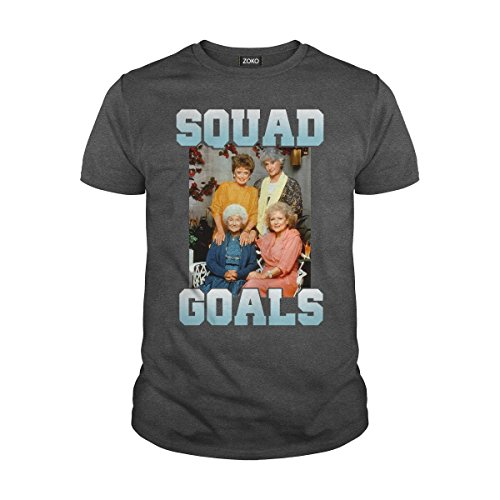 Men's Squad Goals Sophia Rose Dorothy Blanche Golden Girls T-Shirt (2XL, Dark -