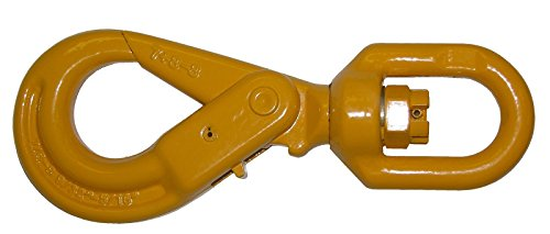 Ships in 1 to 2 Business Days! BA Products G8-12SSLH SELF LOCKING SWIVEL HOOK for Winch Cable / Wire Rope, 12,000 LB. WLL, Used on 9/16