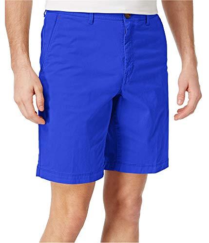 Michael Kors Mens Spring Stretch Casual Chino Shorts Blue 33