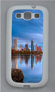 City reflection Custom Design Samsung Galaxy S3 Case Cover - TPU Silicone - White