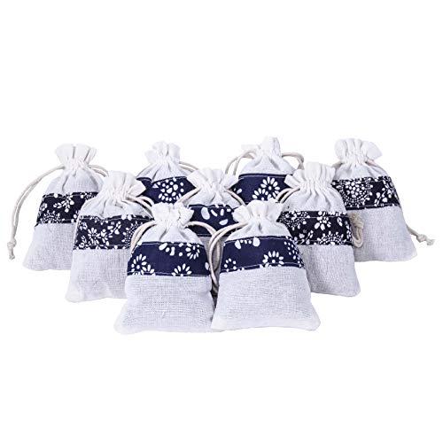 D'vine Dev 10 Large Lavender Flower Sachets in Muslin Bags - Gift Sachets Bag - Dried Lavender Flower Sachets - by Lavande Sur - Sachet Fragrance Lavender