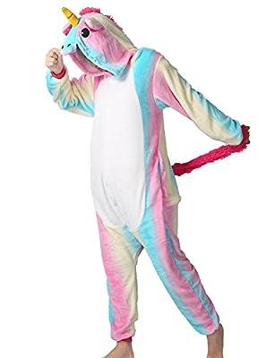 Adult Onesie Unicorn For Women Men Pajamas Animal Cosplay Halloween Costume Cute Sleepwear