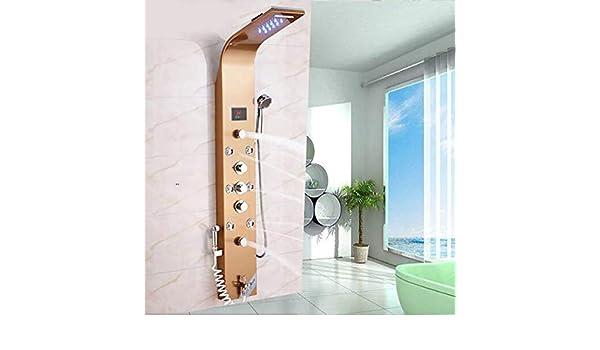 Shower System Baño LED Lluvia Cascada Ducha Panel Cuerpo Masaje ...