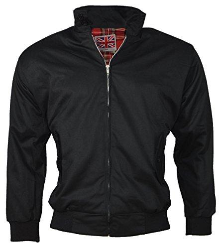 Dallaswear - Blouson Rétro Style Aviateur pour Hommes - Noir, XXXXX-Large
